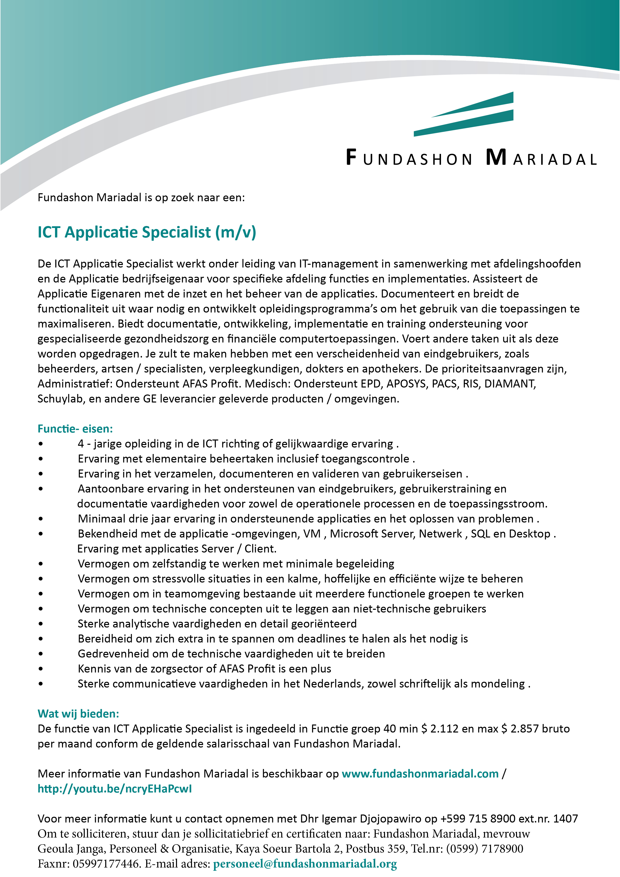ICT Applicatie Specialist